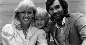 George Best with his former wife Angie and son Calum in 1984. Photograph: PA
