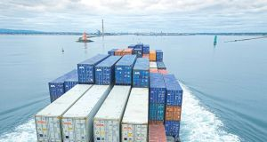 Lift-on lift-off business, that is cargo vessels carrying goods in containers, was up 5 per cent in Irish ports.