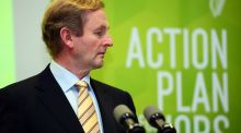 Taoiseach Enda Kenny at a press conference on the Government's Action Plan for Jobs in 2012. Photograph: Eric Luke