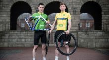 Irish riders Ronan McLaughlin and Eoin Morton pictured at the launch of the 2017 An Post Rás which will begin on Sunday May 21st at Dublin Castle and finish on Sunday May 28th in Skerries. Photo: Dan Sheridan/Inpho