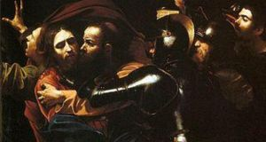 "Caravaggio, ""The Taking of Christ"". On indefinite loan to the National Gallery of Ireland from the Jesuit Community, Dublin"