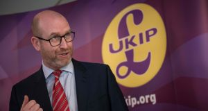 Ukip leader Paul Nuttall admits that claims on his website about losing close friends in the Hillsborough disaster were false. Photograph:  Oli  Scarff/AFP/Getty Images
