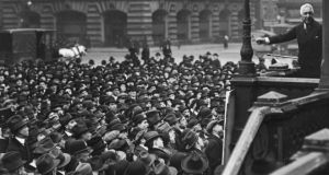Showman: William Bourke Cockran  addresses a rally in  San Francisco. Photograph: FPG/Hulton Archive/Getty
