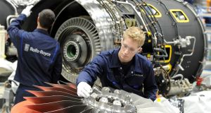 Underlying profits at Rolls Royce tumbled by 49 per cent to £813 million but this was better than the City had expected. Photograph: Rolls-Royce/PA Wire