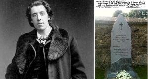 Oscar Wilde, Isola Wilde's memorial at St John's churchyard in Edgeworthstown and her death notice in The Irish Times on February 25th, 1867