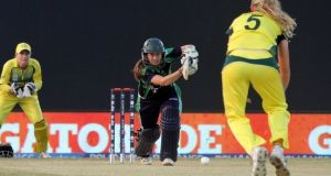 Isobel Joyce's 24 helped Ireland to a below-par score of 144 as they were beaten by Bangladesh by seven wickets in Colombo. Photograph: Inpho/Barry Chambers