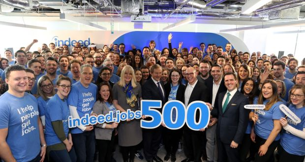 Indeed begins advertising first of 500 new positions in Ireland