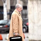 Former Caja Madrid bank and IMF chief Rodrigo Rato arrives at the National Court headquarters in San Fernando de Henares. Photograph: Fernando Villar/EPA