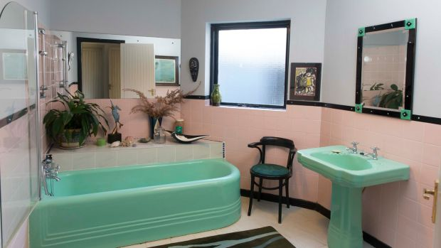 The 1950s suite in mint green bought in Johnny Cash's scrapyard. Photograph: Patrick Browne