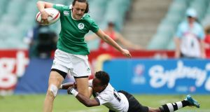 "Hannah Tyrrell in action for Ireland sevens against Fiji. ""From where I've come to where I am now is an exceptional achievement for me."" Photograph:  Matt King/Getty Images"