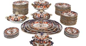An 85-piece early Victorian Mason's Ironstone dinner service, complete with tureens and serving dishes, for 14 place settings, estimated at €2,000-€4,000