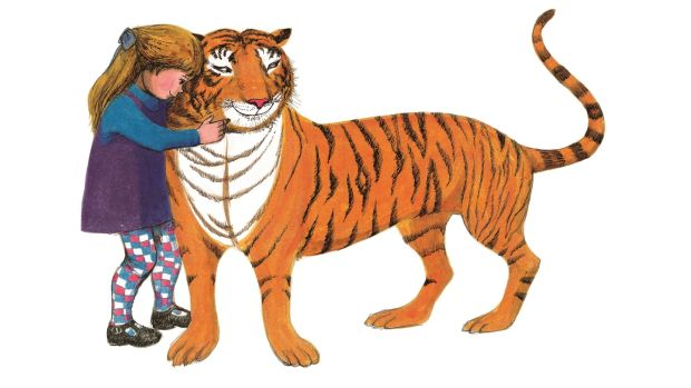 """The Tiger Who Came to Tea"" by Judith Kerr: ""I used to tell my children bedtime stories and there was one they liked about a tiger who called to the house. A tiger ringing the doorbell was the most exciting thing I could imagine."""