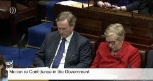 Taoiseach Enda Kenny during a debate on the Government in the Dáil.