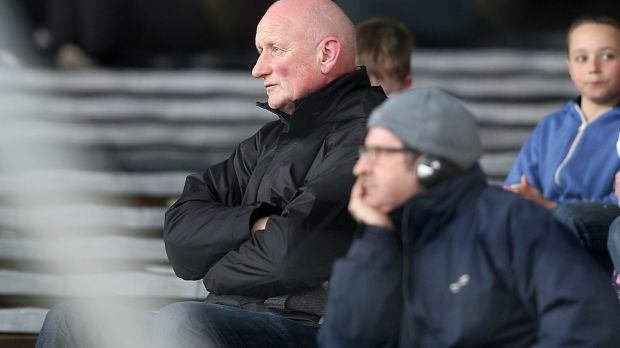 Kilkenny senior hurling manager Brian Cody watches the 2014 Dr Croke Cup final between St Kieran's and CBS. Photograph: Donall Farmer/Inpho