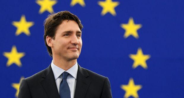 Justin Trudeau praises EU in rousing speech to MEPs