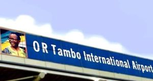 Johannesburg's Oliver Tambo international airport, where police are allegedly confiscating drugs and selling them on