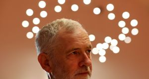 Jeremy Corbyn: Westminster chatter about his future may subside after a dismal few weeks for the Labour leader – if Labour holds both seats. Photograph: Andrew Milligan/PA Wire