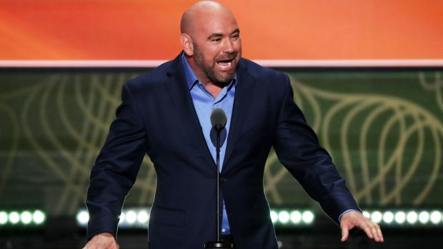 UFC President Dana White delivers a speech on the second day of the Republican National Convention in July, 2016. Photo: Alex Wong/Getty Images