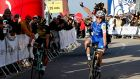 Ireland's  Daniel Martin of the team Quick-Step Floors cuts the finish line to win the second stage of the Algarve Tour cycling race, over 189.3km between Lagoa and Alto da Foia, Monchique, Portugal. Photograph: EPA