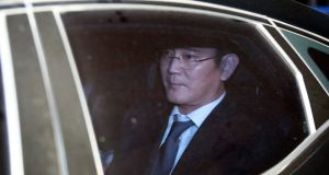 Jay Y Lee, vice chairman of Samsung Group, who was arrested on Friday on charges of bribery.Photograph: Kim Hee-Chul/EPA