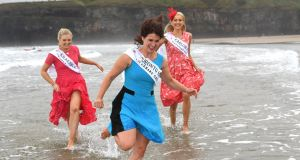 Some of the Rose of Tralee 2016 entrants have a splash about at Ballybunion Beach in North Kerry last August. File photograph:  Domnick Walsh/Eye Focus