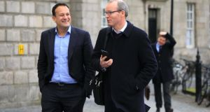 The only realistic contenders for the Fine Gael leadership are Leo Varadkar and Simon Coveney, with the former seen as the frontrunner.  File photograph: Gareth chaney Collins