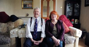 Transplant recipient Paul Prendergast, with his wife, Rose, at their home in Santry, Dublin. Photograph: Aidan Crawley