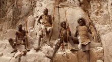 Tanzania, Africa: life for these  Hadza hunter-gatherers can be very physically demanding