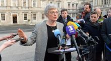 Minister for Children and Youth Affairs Katherine Zappone outside Leinster House this week. Photograph: Eric Luke