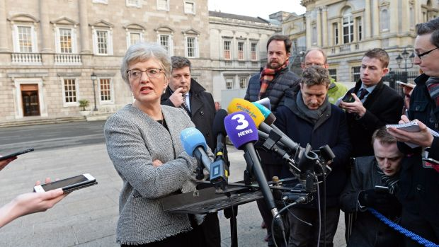 Katherine Zappone Minister for Children at Leinster House. Photograph: Eric Luke