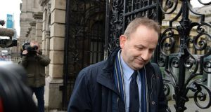 Garda whistleblower Sgt Maurice McCabe at Leinster House. Photograph: Cyril Byrne