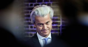 Geert Wilders says if he wins the popular vote and is excluded from government it will be patently undemocratic. Photograph: Martijn Beekman /AFP/Getty Images