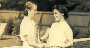 Rena Dardis (left) with her friend Peggy Blunden. A keen sportswoman, Rena played tennis at Brookfield Tennis Club.