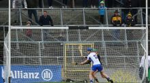 Waterford's Patrick Curran scores a goal in their victory over Kilkenny in the Allianz League Division 1A clash at Nowlan Park, Kilkenny. Photograph: Inpho