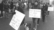 Kerry Babies tribunal: Protesters outside the Department of Justice on January 29th, 1985 voiced support for the Hayes family  over their treatment  by gardaí and the tribunal.  Photograph: Pat Langan