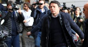 Former Italian prime minister Matteo Renzi: faces day-of-reckoning party congress. Photograph: Alessandro Bianchi/Reuters