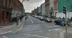 The collision occurred at Lincoln Place, Dublin 2, at approximately 3pm on Friday afternoon. Photograph: Google Street View
