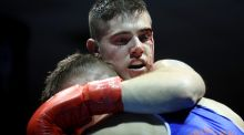 Joe Ward in action against  Anthony Browne during the National Elite Championship  Finals at the  National Stadium in Dublin. Photograph: Donall Farmer/Inpho