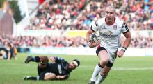 Ruan Pienaar runs in for a try during Ulster's Guinness Pro 12 game against Glasgow at Kingspan Stadium. Photograph:  Darren Kidd/Inpho/Presseye