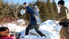 Asylum seekers flee US border patrol, cross into Canada