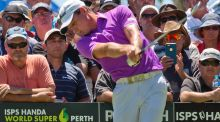 Brett Rumford won the inaugural Perth Super 6 in his natvie city. Photograph: Tony Ashby/Afp
