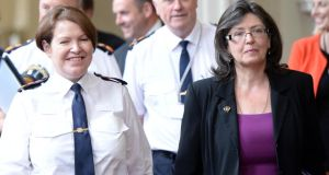 "Garda Commissioner Nóirín O'Sullivan with Policing Authority chair Josephine Feehily. ""Not surprisingly, the weak legislation establishing the Policing Authority has resulted in a weak Policing Authority in practice."" Photograph: Eric Luke"
