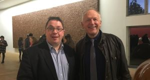 Prof John Cryan (left), head of neuroscience at University College Cork, and Prof Ted Dinan, head of psychiatry at UCC, at the Gut Instinct: Art Food and Feeling exhibition in the Glucksman Gallery, UCC