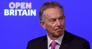 Former British prime minister Tony Blair: all insight and no standing. Photograph: Toby Melville/Reuters