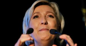 Marine Le Pen: a new poll puts her on course to win the first round vote of the French presidential elections. Photograph: Reuters/Robert Pratta