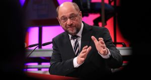 Martin Schulz of Germany's Social Democrat Party (SPD)   who is challenging Angela Merkel for the chancellor. Photograph: Krisztian Bocsi/Bloomberg