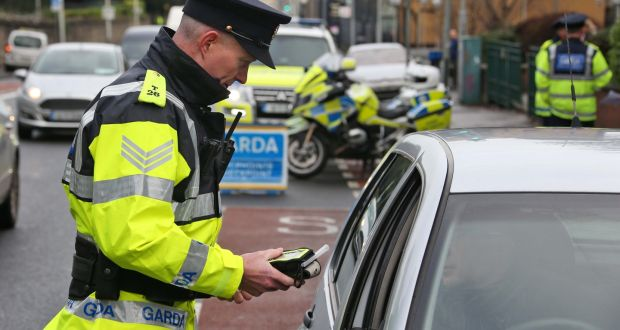 Call for senior gardaí to be at checkpoints for alcohol