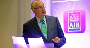 Richard Pym said at a meeting AIB is shackled by Government-imposed pay caps. Photograph: Eric Luke