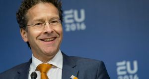 Chairman of Eurogroup Jeroen Dijsselbloem: 'There is still a lot of work that needs to be done.' Photograph: Bart Maat/EPA