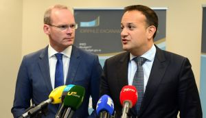 Simon Coveney and Leo Varadkar set to lock horns for the coveted Fine Gael role. Photograph: Dara Mac Dónaill